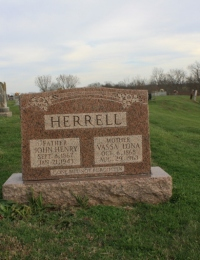 John Henry & Vassa Lona Green Herrell Headstone - Lebanon Church - Franklin County, Kentucky, USA